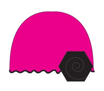 vintage hat: hot pink/black flower