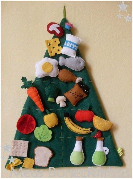 a piramide é constituida de 24 alimentos  dimensoes: 40cm de base x 50cm de altura  todos alimentos possuem velcro atrás para colocar e retirar da piramide R$120,00