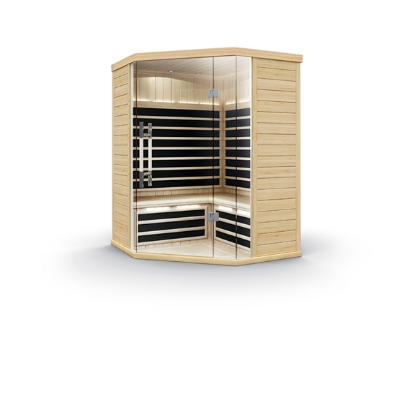 Whatever your taste, budget or space challenges, there is a Pure Infra system for you. Regardless of layout model, Pure Infra saunas have a modern aesthetic with full glass fronts and include an intuitive touchscreen control system that makes heat, light and sound adjustment simplicity itself. Your Pure Infra sauna is delivered ready for easy assembly, and powered from a household outlet—just plug it in and you're ready to relax and detox in the comfort of your own home.