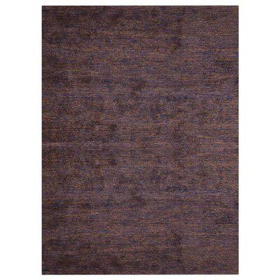 Red Barrel Studio Linehan Gabbeh Hand-Knotted Cotton Purple Area Rug Rug Size: Rectangle 3′ x 5′
