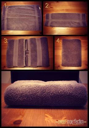 Wie man Blätter, Decken und Tischdecken mit der Konmari-Methode faltet (4) #HowToFoldba
