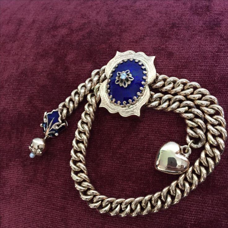 Старинный браслет, золото 56 пробы, горячий эмаль.  1500$