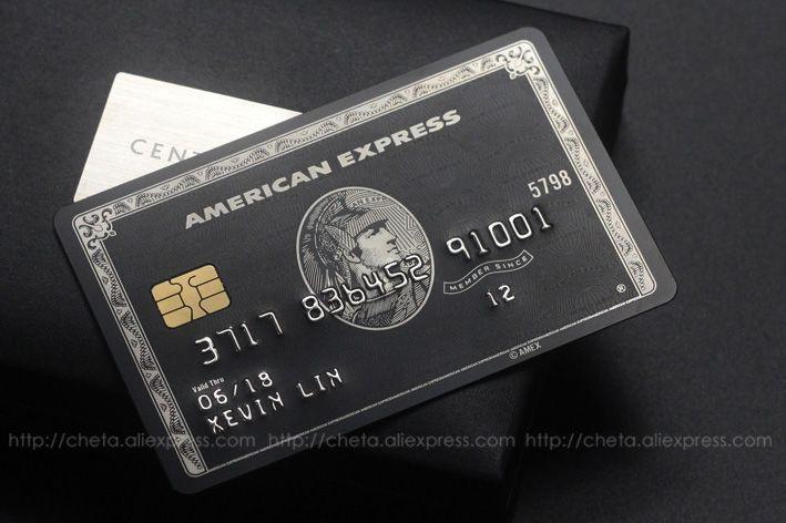 American Express The Centurion Cards Souvenir Cartao De Credito Carta Credo