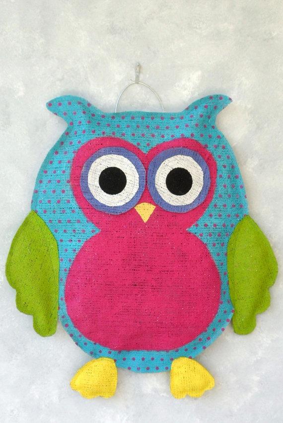 cute owl door hanger