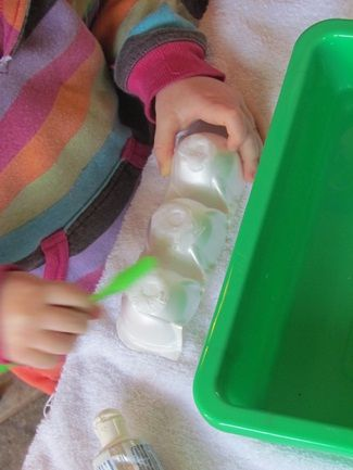 Waterplay tooth brushing fun! Ava is obsessed with brushing teeth she would LOVE this!