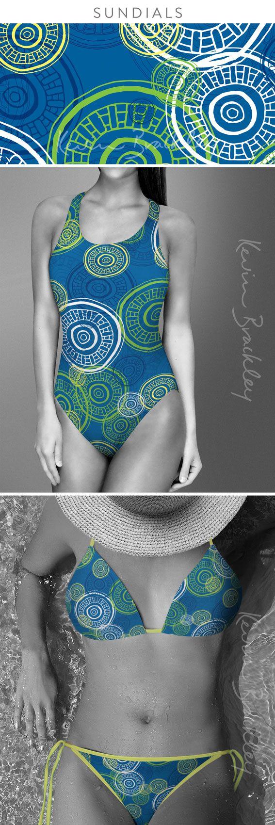 Women's swimwear concepts in my Sundials design