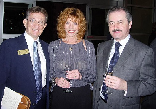 Bill Wallace, Diane Brinn & Treviso Alderman Franco Conte at the official Sarasota-Treviso Province signing ceremony and gala at the Historic Asolo Theater  at the John & Mabel Ringling Museum of Art in February 2007