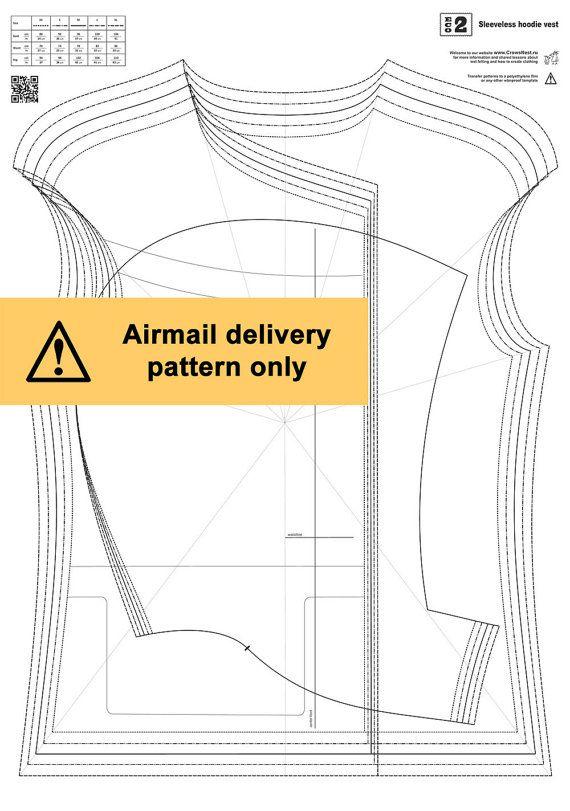 Eco.2 / Sleeveless hoodie vest / Wet felting pattern by LybaV