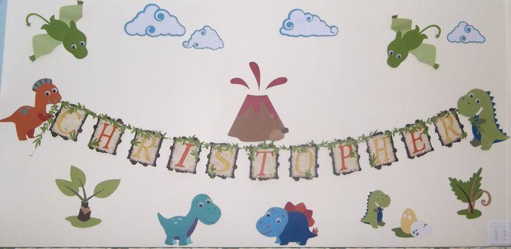 Dinosaur Room Decoration/ wall decoration/ Decor Kids/ Nursery/ Play room decoration by CreationsClaudiaR on Etsy