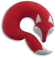 Neck pillow Peter the fox - Red/black