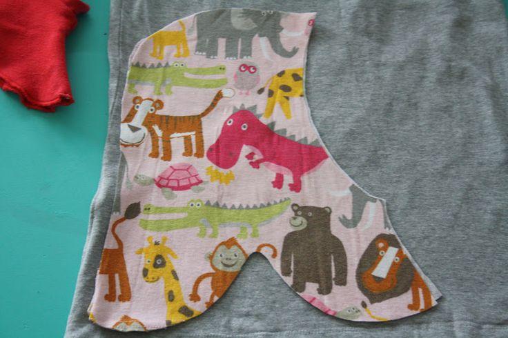 DIY på elefanthue syet af gamle klude (jersey, strækstof): 1 - Find en elefanthue der passer godt til dit barn samt nogle gamle klude. Den...