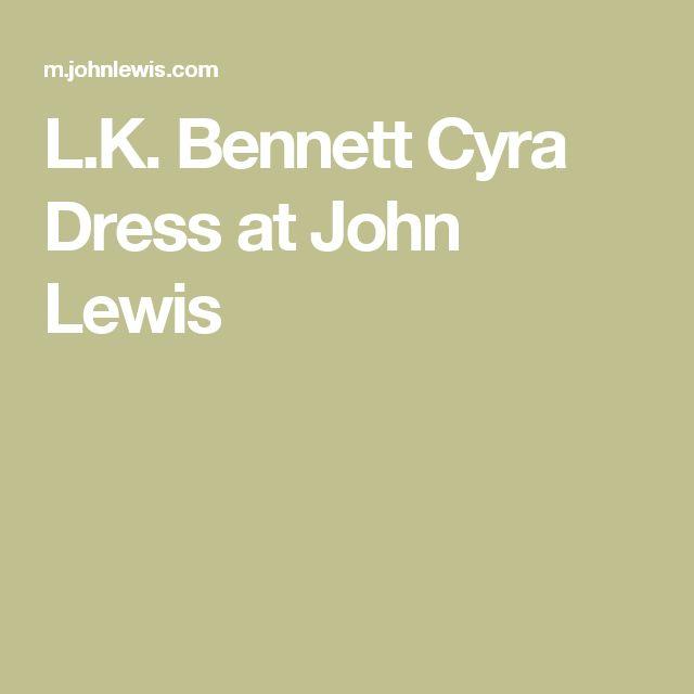 L.K. Bennett Cyra Dress at John Lewis