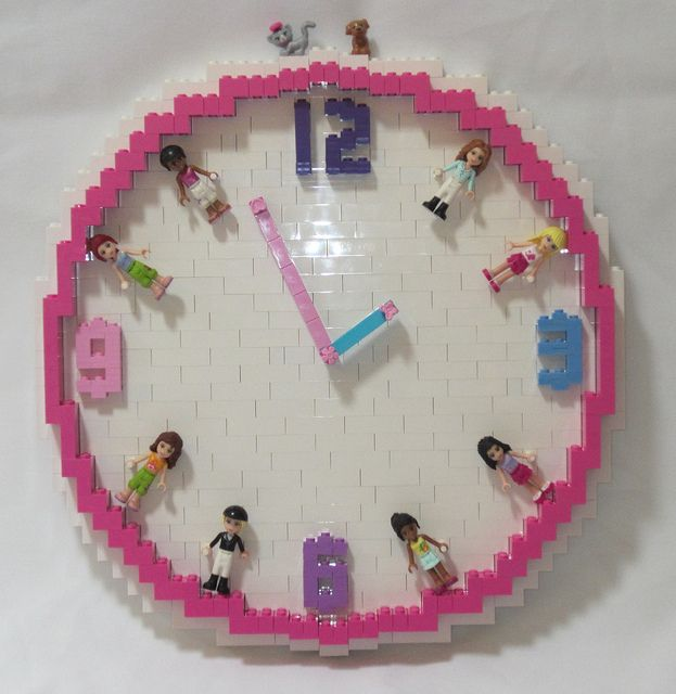 LEGO Friends Clock by TheBrickMan, via Flickr