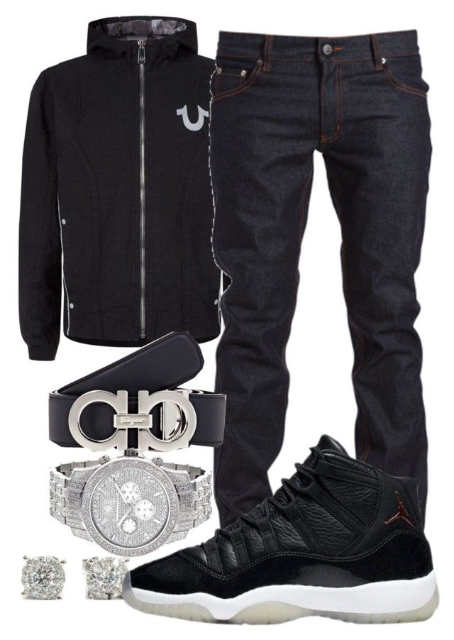 """Meek Mill- Pray For Em"" by young-rich-nvgga ❤ liked on Polyvore featuring True Religion, Cheap Monday, Salvatore Ferragamo, men's fashion and menswear"