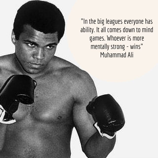 Life is the Big Leagues! We MUST all work on our Mental Strength in order to create the career and life of our dreams! Thank you Muhammad Ali for the reminder! #MentalToughness