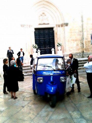 An ape for a wedding in Ostuni, Puglia