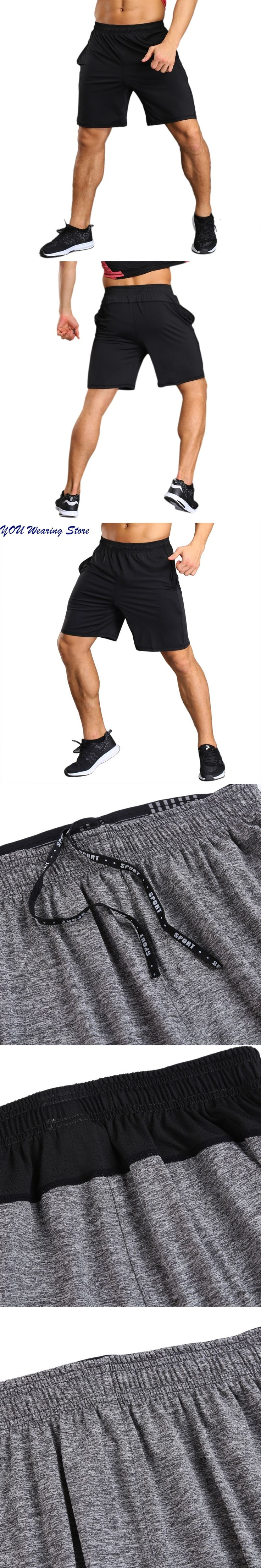 Men Shorts Men Bodybuilding Male Shorts Workout Shorts Male Fitness Solid mens Elastic Waist shorts Casual M-XXL New