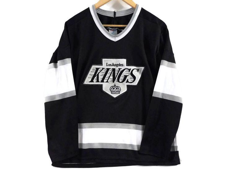 VTG LA Kings Hockey Jersey - Medium - CCM - Nhl - Los Angeles Kings - Wayne Gretzky - Sports Jersey  Hollywood California - Vintage Clothing by BLACKMAGIKA on Etsy
