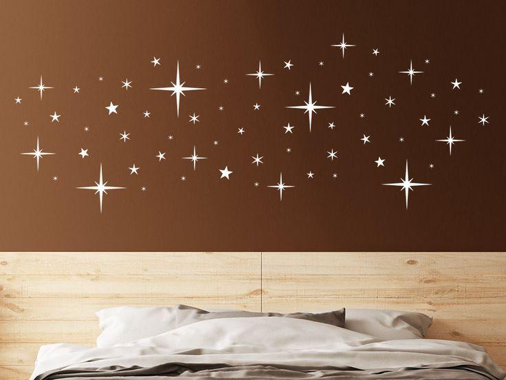 Nachthimmel zum Aufkleben! Wandtattoo-Sterne sorgen für Stimmung an der Wand.