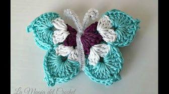 БАБОЧКА BUTTERFLY Crochet - YouTube