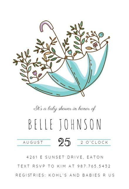 umbrella shower baby shower pinterest free baby shower invitations baby shower invitation templates and shower invitations