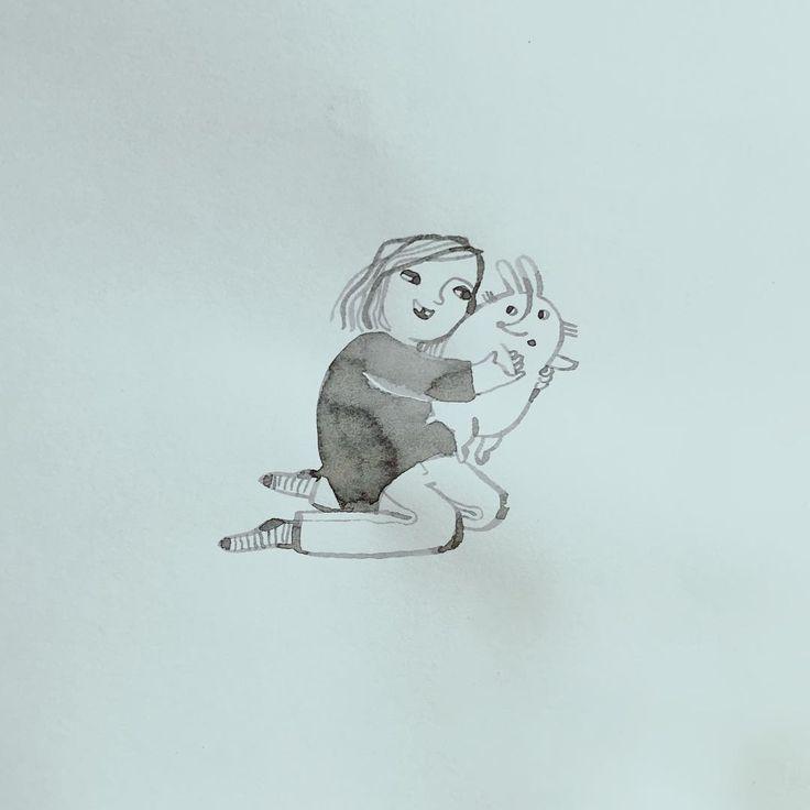 Schnappt euch nen Hasen und dann ab ins lange Wochenende.  #illustration #illustrations #kuscheltermin #ichmagnichtkuscheln #kuschelatacke #schmuseterror #mitliebegemacht #karinlubenau