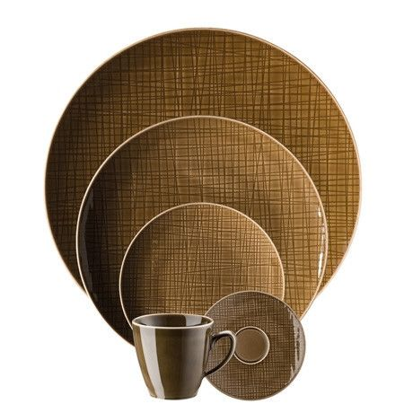 Rosenthal Classic Mesh Walnut 5 Piece Place Setting (5 pps)