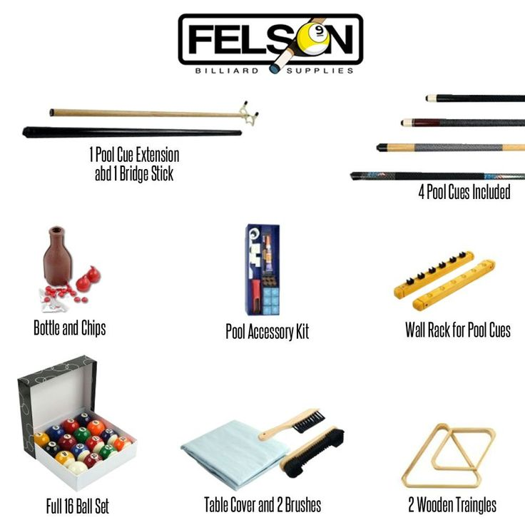 Billiards Accessories Kit – 32 Piece by Felson Billiard Supply #leatherwooddesign #sports #pool
