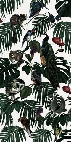 Sample (Full Repeat) - Amazonia Light http://witchandwatchman.com/collections/wallpaper
