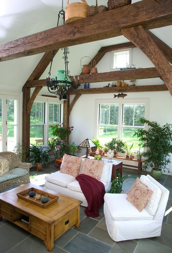1000 ideas about exposed beam ceilings on pinterest for Exposed beam ceiling living room
