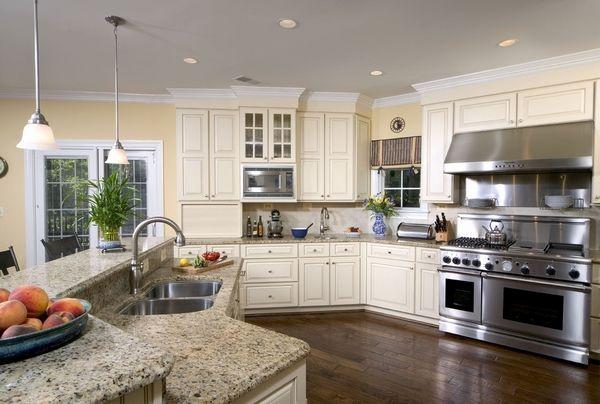 White Kitchen Stainless Steel Appliances