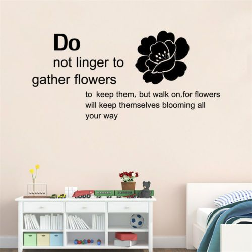 Flower-Will-Keep-Themselves-Blooming-All-Your-Day-Words-Wall-Sticker-Removable