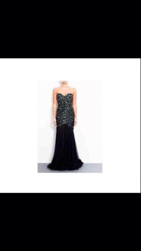 Forever Unique Sparkle Fishtail Dress In Black Size12 As Worn By Lucy Meck