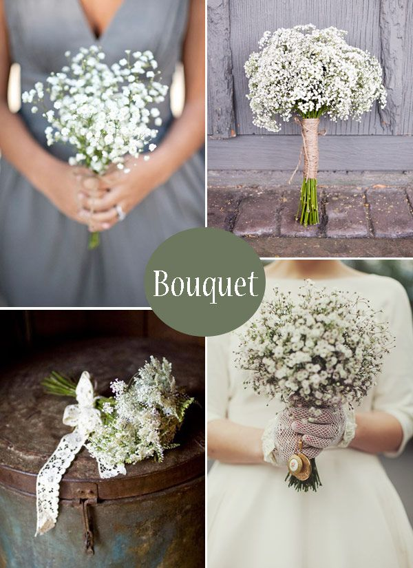 Babys-Breath-Bouquet - Read More on One Fab Day http://onefabday.com/gypsophila-babes-breath-wedding-ideas/