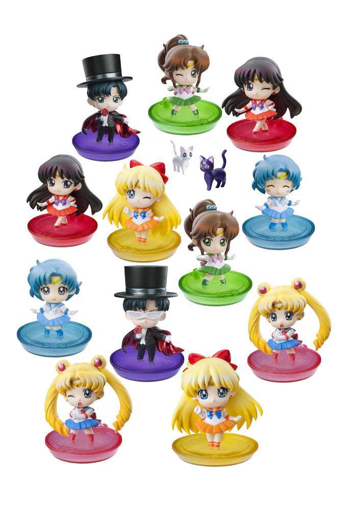 Sailor Moon Petit Chara Land Pretty Soldier Sammelfiguren 6 cm - 6 Figuren Set- Sailor Moon - Sailor Mars - Sailor Venus - Sailor Jupiter - Sailor Merkur