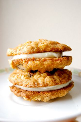 Carrot cake sandwich cookies! This is a Martha Stewart recipe and one of the blogger's favorite cookies :)