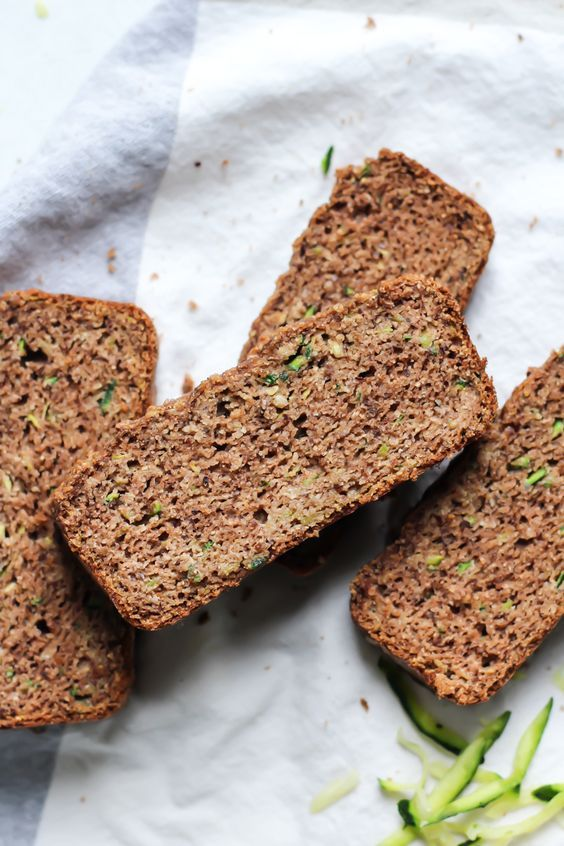 This Paleo Cinnamon Zucchini Bread uses grain-free flours, eggs, a touch of oil and a lot of cinnamon and zucchini. Gluten-free, dairy-free, paleo.