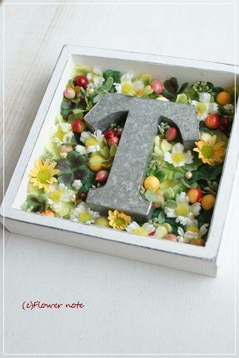 【今日の贈花】開業祝いに四葉のクローバー Flower note の 花日記 (横浜・上大岡 アレンジメント教室)