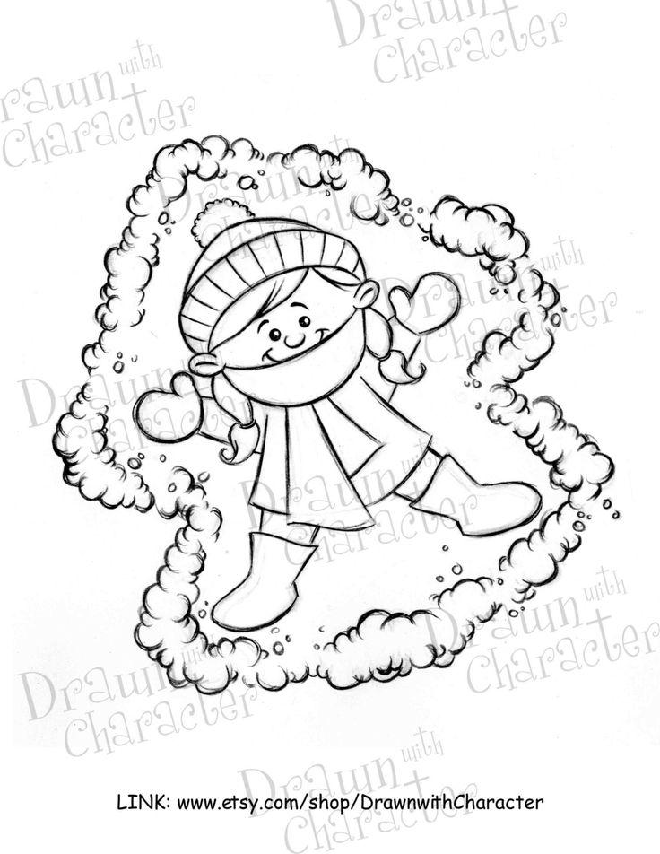 Kid Snow Angel Digital Clip Art/ KopyKake Image by DrawnbyKrista on Etsy https://www.etsy.com/uk/listing/174238511/kid-snow-angel-digital-clip-art-kopykake