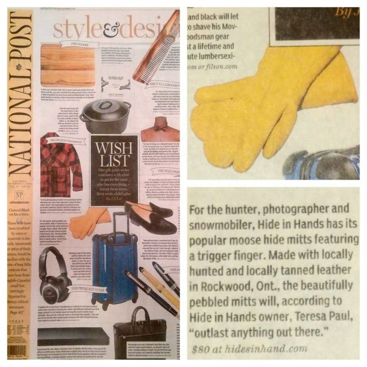 We were in the National Post! #leather #Canada #handmade #Rockwood #Ontario #like #daily #fashion #hidesinhand