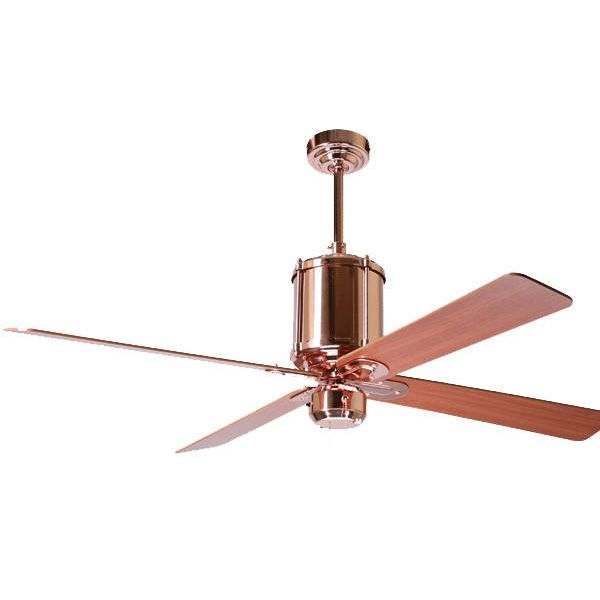 Machine Age Polished Copper Ceiling Fan | BarnLightElectric.com
