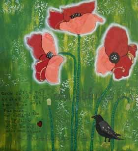 Burgundy Poppies with watermark