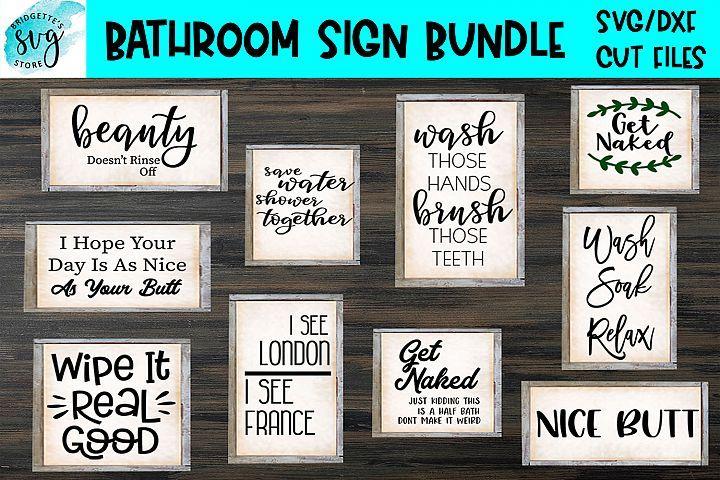 Bathroom Sign Bundle in 2019   #AmazingSVG   Bathroom signs