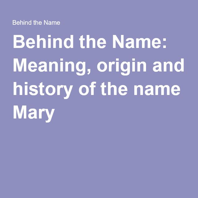"""Usual English form of Maria, the Latin form of the New Testament Greek names Μαριαμ (Mariam) and Μαρια (Maria) - the spellings are interchangeable - which were from Hebrew מִרְיָם (Miryam), a name borne by the sister of Moses in the Old Testament. The meaning is not known for certain, but there are several theories including """"sea of bitterness"""", """"rebelliousness"""", and """"wished for child"""". However it was most likely originally an Egyptian name, perhaps derived in part from mry """"beloved"""" or mr…"""