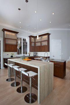 Design Trend: Marble & Granite Waterfall Countertops | Home