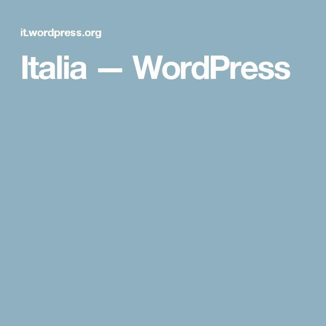 Italia — WordPress