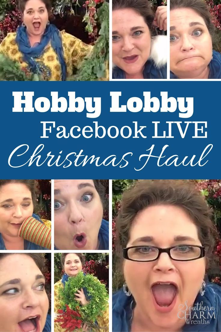 You know I love sharing my shopping trips with y'all and this is no different – welcome to my Facebook LIVE Hobby Lobby Christmas Haul! Wait until you see what I found for Christmas decorating at Hobby Lobby! http://southerncharmwreaths.com/blog/hobby-lobby-christmas-haul/