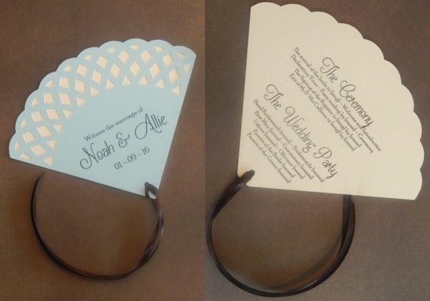 Nana's Doily Design Fan Wedding Programme
