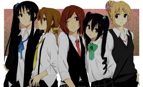Mugi, Mio, Ritsu, Yui and Azu-nyan <3 #HTT #K-on #Anime