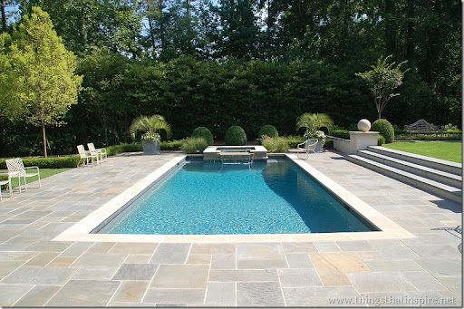 Things That Inspire: The pool design process steps down from house